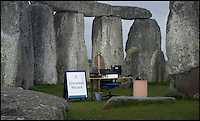BNPS.co.uk (01202 558833).Pic:Phil Yeomans/BNPS..As job vacancies go this one is likely to go down in history...English Heritage are seeking the first ever general manager in 5000 years to run Stonehenge...The bureaucrat, whose 'office' will be the giant pre-historic stone circle in Wiltshire, is required to oversee Stonehenge's 'exciting new future.'..A new £27 million museum and exhibition gallery and large restaurant will open by the end of this year about a mile away from the historic stones...Regular land train rides will ferry the tourists to the site while part of the A344 that runs alongside it will be closed for good and the landscape returned to how it used to look...English Heritage now needs a 'dynamic and inspirational' person to ensure the tourists have a memorable visitor experience in the future..