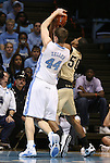 08 November 2008: North Carolina's Tyler Zeller (44) and Pembroke's Brandon Thomas (50). The University of North Carolina Tarheels defeated the University of North Carolina at Pembroke Braves 102-62 at the Dean E. Smith Center in Chapel Hill, NC in an NCAA exhibition basketball game.