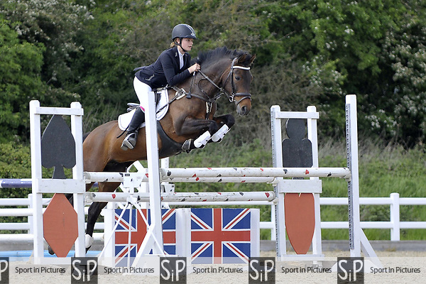 Class 7. Members cup. British Showjumping (BS) Juniors. Brook Farm training centre. Stapleford Abbotts. Essex. 14/05/2017. MANDATORY Credit Garry Bowden/Sportinpictures - NO UNAUTHORISED USE - 07837 394578