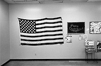 Cafeteria displays its patriotic side on Christmas Eve. Birmingham, Alabama, December 2003 © Stephen Blake Farrington