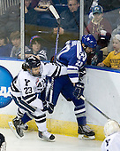 Kevin Peel (Yale - 23), Tony Thomas (Air Force - 20) - The Yale University Bulldogs defeated the Air Force Academy Falcons 2-1 (OT) in their East Regional Semi-Final matchup on Friday, March 25, 2011, at Webster Bank Arena at Harbor Yard in Bridgeport, Connecticut.
