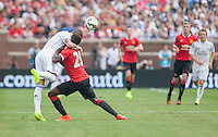 Ann Arbor, Michigan - Saturday August 2, 2014: Manchester United defeated Real Madrid 3-1 during a Guinness International Championship Cup match at Michigan stadium.