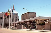 No. California: San Francisco, George R. Moscone Convention Center, 1981. Helmuth, Obata & Kassebaum. Howard, Folsom, 3rd & 4th.