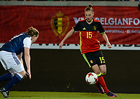 20170411 - LEUVEN ,  BELGIUM : Belgian Yana Daniels pictured during the friendly female soccer game between the Belgian Red Flames and Scotland , a friendly game in the preparation for the European Championship in The Netherlands 2017  , Tuesday 11 th April 2017 at Stadion Den Dreef  in Leuven , Belgium. PHOTO SPORTPIX.BE   DAVID CATRY