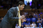 30 November 2014: Army head coach Zach Spiker. The Duke University Blue Devils hosted the West Point Military Academy Army Black Knights at Cameron Indoor Stadium in Durham, North Carolina in a 2014-16 NCAA Men's Basketball Division I game. Duke won the game 93-73.