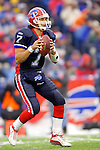 Buffalo Bills quaterback J.P. Losman sets to make a pass against the visiting New England Patriots at Ralph Wilson Stadium in Orchard Park, NY, on December 11, 2005 . The Patriots defeated the Bills 35-7. Mandatory Photo Credit: Ed Wolfstein