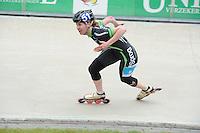 INLINE-SKATEN: HEERDE: Skeeler- en Skatecentrum Hoornscheveen, Europa Cup/Univé Skate Off, 05-05-2012, Elma de Vries (#8), ©foto Martin de Jong