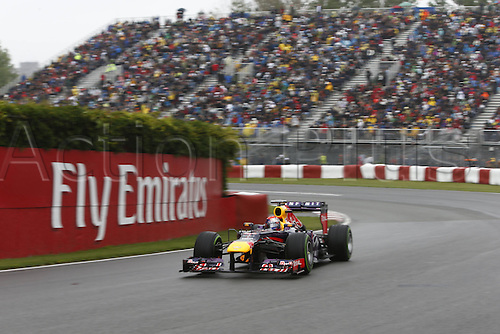 08.06.2013. Montreal, Canada.   FIA Formula One World Championship 2013 Grand Prix of Canada 1 Sebastian Vettel ger Infiniti Red Bull Racing   seen on qualification day in Montreal at Circuit Gilles Villeneuve