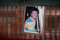 Terremoto de L'Aquila. L'Aquila Earthquake..La casa dello studente, ritratti delle giovani vittime. The student's home, portraits of the young victims.