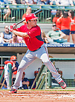 20 March 2015: Washington Nationals pitcher Max Scherzer at bat during a Spring Training game against the Houston Astros at Osceola County Stadium in Kissimmee, Florida. The Nationals defeated the Astros 7-5 in Grapefruit League play. Mandatory Credit: Ed Wolfstein Photo *** RAW (NEF) Image File Available ***