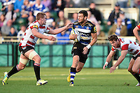 Jeff Williams of Bath Rugby in possession. West Country Challenge Cup match, between Bath Rugby and Gloucester Rugby on September 26, 2015 at the Recreation Ground in Bath, England. Photo by: Patrick Khachfe / Onside Images