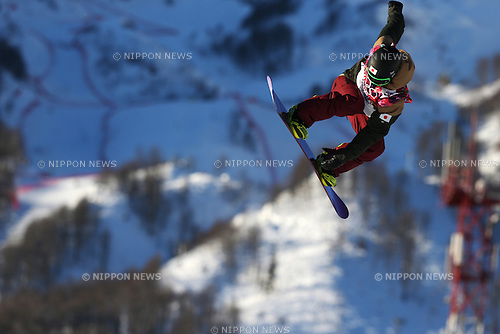 Yuki Kadono (JPN), <br /> FEBRUARY 6, 2014 - Snowboarding : <br /> Men's Slopestyle training session  <br /> at &quot;ROSA KHUTOR&quot; Extreme Park <br /> during the Sochi 2014 Olympic Winter Games in Sochi, Russia. <br /> (Photo by Koji Aoki/AFLO SPORT)