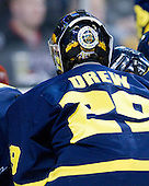 Nick Drew (Merrimack - 29) - The Merrimack College Warriors defeated the University of New Hampshire Wildcats 4-1 in their Hockey East Semi-Final on Friday, March 18, 2011, at TD Garden in Boston, Massachusetts.