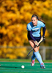 25 October 2009: Columbia University Lion midfielder Julia Garrison, a Junior from Virginia Beach, VA, in action against the University of Vermont Catamounts at Moulton Winder Field in Burlington, Vermont. The Lions shut out the Catamounts 1-0. Mandatory Credit: Ed Wolfstein Photo