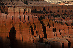 Afternoon light inside Bryce Canyon National Park in the late fall.