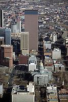 aerial photograph of State Capitol and skyline, Denver, Colorado