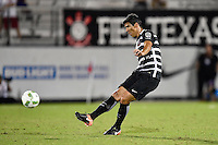 Orlando, FL - Saturday Jan. 21, 2017: Corinthians defender Baluena (4) during the first half of the Florida Cup Championship match between São Paulo and Corinthians at Bright House Networks Stadium.