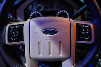A Ford emblem is pictured at the 2015 New York International Auto Show in New York City. 04.06.2015. Kena Betancur/VIEWpress.