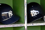 16 March 2007: New York Yankees Batting Helmets lie in wait of a game against the Houston Astros at Osceola County Stadium in Kissimmee, Florida...Mandatory Photo Credit: Ed Wolfstein Photo