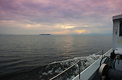 The RV Melosira takes UVM students out on a mysis sampling trip.  Jason Stockwell, Captain Bill Lowell. Burlington, Vermont and Lake Champlain