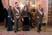 Spanish Royals Celebrate New Year's Military Parade 2013