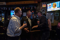 NY, NEW YORK, NOVEMBER 8: President Donald Trump supporters celebrate the victory in a bar near to Six Avenue in New York on November 8,2016<br />  Photo by VIEWpress/Maite H. Mateo.