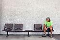 WA09671-00...WASHINGTON - Bench seats on the Washington State University campus.