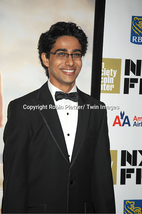 """Suraj Sharma attends the 50th Annual New York Film Festival Opening Night Gala presentation of """"Life of Pi"""" starring Suraj Sharma and directored by Ang Lee on September 28, 2012 in New York City. The screening was at Alice Tully Hall at Lincoln Center."""