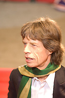 Mick Jagger of the Rolling Stones attends the Shine A Light premiere during day one of the 58th Berlinale International Film Festival held at the Grand Hyatt Hotel on February 7, 2008 in Berlin, Germany.  (Philip Schulte/PressPhotoIntl.com)