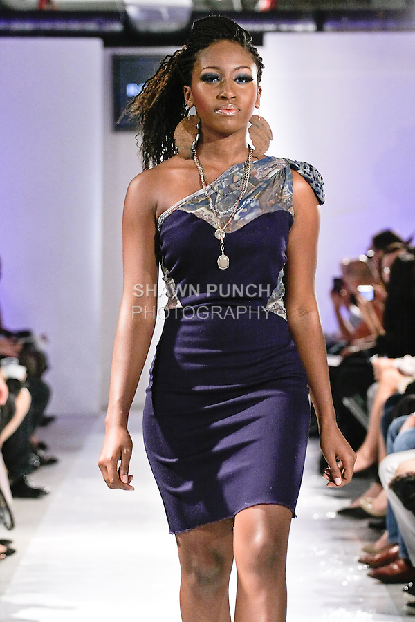 Model walks the runway in an outfit by Anna Maria Garza, for her Rechy Vonne Spring Summer 2012 collection fashion show, during BK Fashion Weekend Spring Summer 2012.