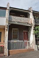 Victorian Filigree terrace architecture, Sydney, Australia