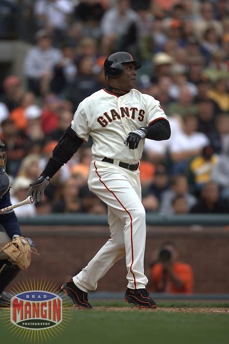 Barry Bonds. Baseball: San Diego Padres vs San Francisco Giants at AT&T Park in San Francisco, CA on September 9, 2006. Photo by Brad Mangin