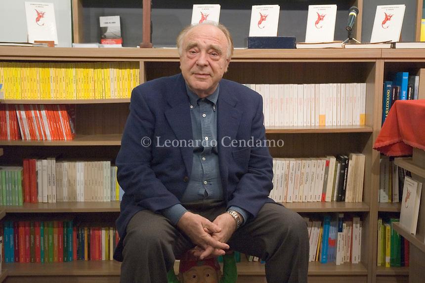Milan, Italy, 2006. Alberto Bevilacqua, Italian writer, journalist, poet, screenwriter and director.