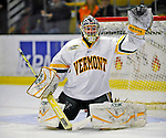 14 November 2008: University of Vermont Catamount goaltender Mike Spillane, a Junior from Bow, NH, warms up prior a game against the Northeastern University Huskies at Gutterson Fieldhouse in Burlington, Vermont. The Catamounts fell to the Huskies 5-3...Mandatory Photo Credit: Ed Wolfstein Photo