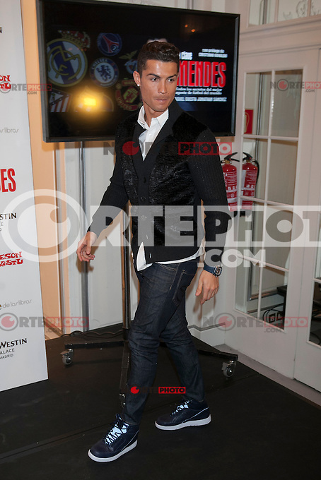 Real Madrid&acute;s Cristiano Ronaldo attends Jorge Mendes&acute;s book presentation in Madrid, Spain. January 22, 2015. (ALTERPHOTOS/Victor Blanco) /NortePhoto<br />