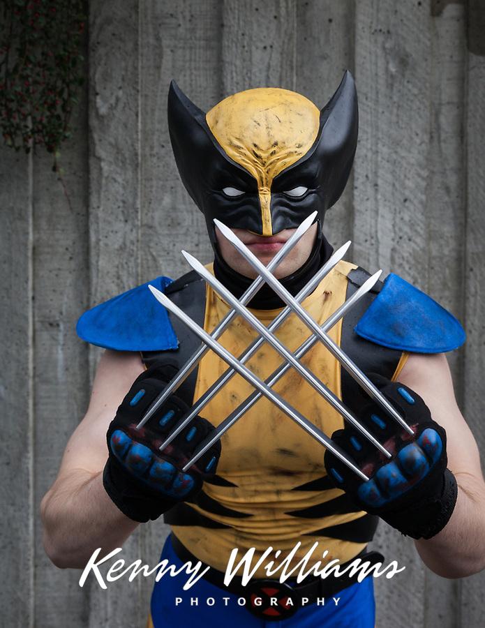 Wolverine Cosplay, Emerald City Comicon, Seattle, WA, USA.