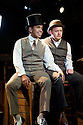 "London, UK. 05/07/2011. European premiere of Stephen Sondheim's latest musical,  ""Road Show"" , at the Menier Chocolate Factory. David Bedella as Wilson Mizner and Micahel Jibson as Addison Mizner . Photo credit should read Jane Hobson"