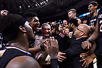 GREENVILLE, SC - MARCH 19: Head coach Frank Martin of the University of South Carolina celebrates with his players after defeating Duke University during the 2017 NCAA Men's Basketball Tournament held at Bon Secours Wellness Arena on March 19, 2017 in Greenville, South Carolina. (Photo by Grant Halverson/NCAA Photos via Getty Images)