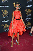 Skai Jackson at the premiere for Disney's &quot;Beauty and the Beast&quot; at El Capitan Theatre, Hollywood. Los Angeles, USA 02 March  2017<br /> Picture: Paul Smith/Featureflash/SilverHub 0208 004 5359 sales@silverhubmedia.com