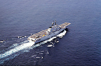 "The Italian aircraft carrier  ""G. Garibaldi""  in navigation"
