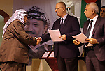 Palestinian Prime Minister Rami al-Hamdallah attends the  completion ceremony of the land settlement project of Abu Falah village in the West Bank city of Ramallah on March 30, 2017. Photo by Prime Minister Office