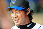 2 March 2010: New York Mets' relief pitcher Ryota Igarashi returns to the dugout after closing out a game against the Atlanta Braves on the Opening Day of Grapefruit League Spring Training play at Tradition Field in Port St. Lucie, Florida. The Mets defeated the Braves 4-2. Mandatory Credit: Ed Wolfstein Photo