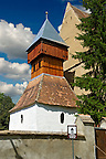 Bell Tower of the Saxon Fortified church of Aţel ( Atel ) , Sibiu, Romania