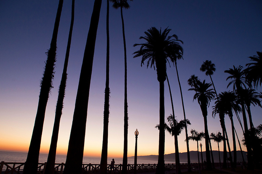 Sunset seen from Palisades Park, Santa Monica, California Santa Monica, California, CA, USA
