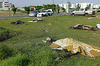 Tripoli, Libya, August 26, 2011.More than 30 bodies could be found near the entrance of Khaddafi's Bab Aziziyah compound, most of them appear to have been wounded pro Khaddafi fighters in a field medical unit executed on the spot by incoming rebels. If confirmed, this would constitute a serious war crime..