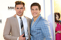 HOLLYWOOD, CA - JUNE 29: Zac Efron and Adam DeVine at the premiere of Mike And Dave Need Wedding Dates at ArcLight Cinemas Cinerama Dome on June 29, 2016. Credit: David Edwards/MediaPunch