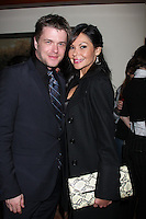 LOS ANGELES - DEC 17:  David Tom, girlfriend Audra Wise at the 2011 Tom / Achor Annual Christmas Party at Private Home on December 17, 2011 in Glendale, CA