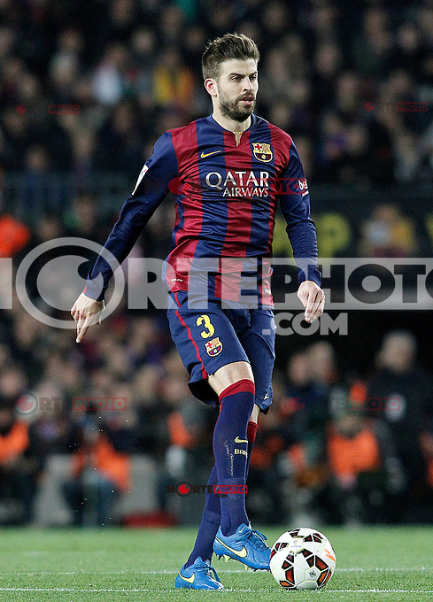 FC Barcelona's Gerard Pique during La Liga match.March 22,2015. (ALTERPHOTOS/Acero) /NORTEphoto.com