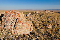 Rock outcrop in the Bighorn Basin of Wyoming