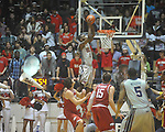 "Ole Miss Terrance Henry (1) dunks against Arkansas at C.M. ""Tad"" Smith in Oxford, Miss. on Saturday, March 5, 2010. Ole Miss won 84-74."